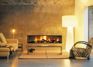 Linear Open Face Fireplace